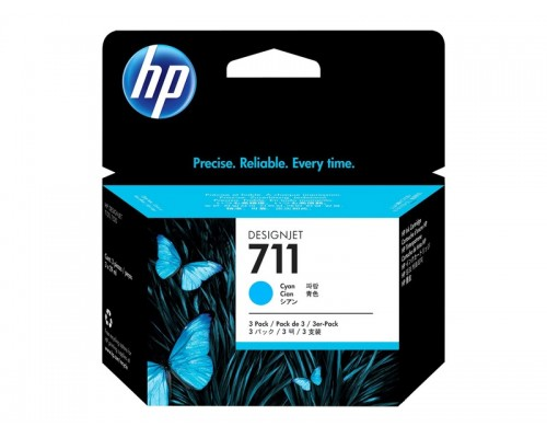HP 711 3-pack 29-ml Cyan